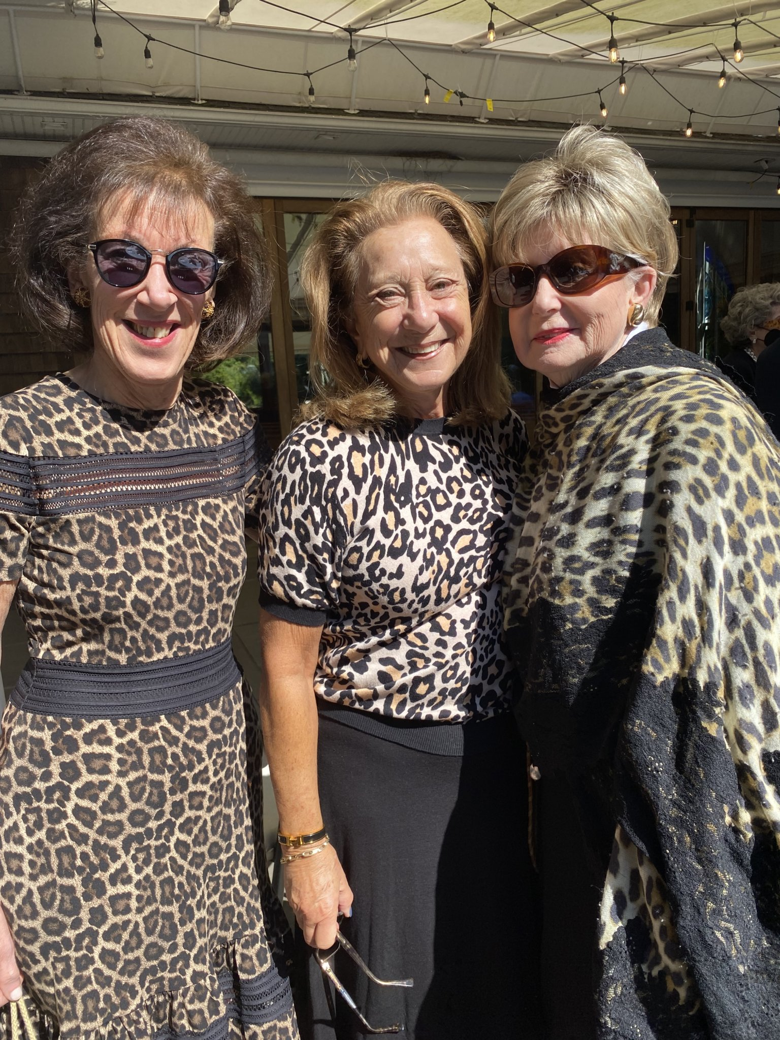It's the season of the leopard and three friends — Sandy Cahn, Connie Rubin and Janet Mittler — unknown to each other, pulled a similar look from the closets. A trend has begun!