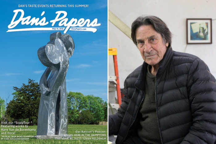 "Hans Van de Bovenkamp's ""Muse #1"" sculpture on the cover of the May 14, 2021, issue of Dan's Papers"