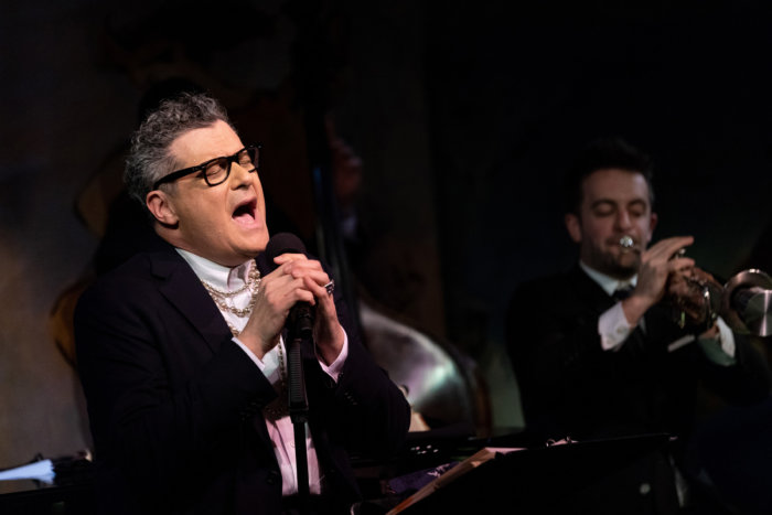 Isaac Mizrahi performing his cabaret act at the Cafe Carlyle in New York City