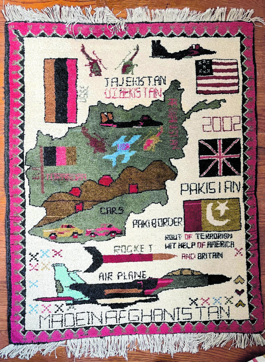 A rug made in Afghanistan ca. 2002